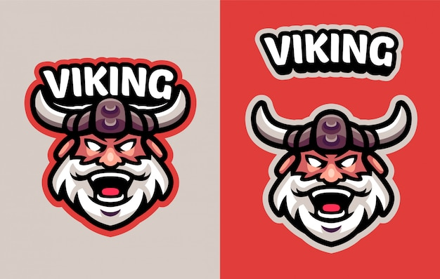 Head viking mascot logo voor sport en esports