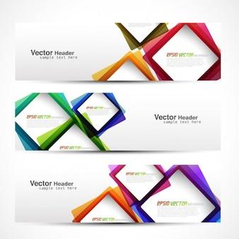 Header met kleurrijke vierkanten