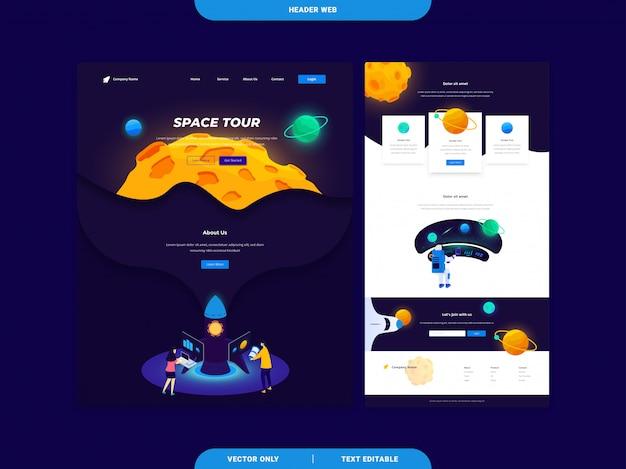 Header web landing page templates
