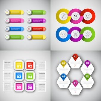 Headline infographic set design zakelijke gegevens grafische collectie presentatie exemplaarruimte