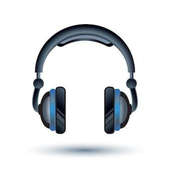 Headphones achtergrond ontwerp