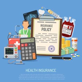 Health insurance services concept
