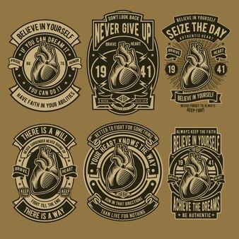 Heart badge-ontwerp