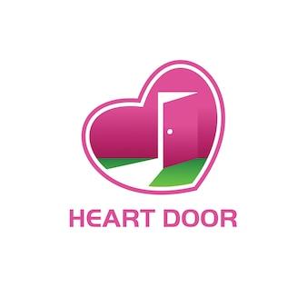 Heart door logo