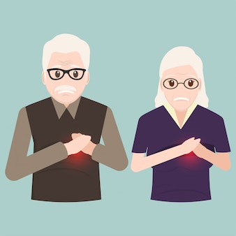 Heart patient elderly, chest patients icon