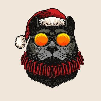 Heat cat dragen zonnebril illustratie