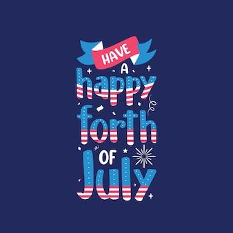 Heb een gelukkige 4 juli, happy independence day belettering