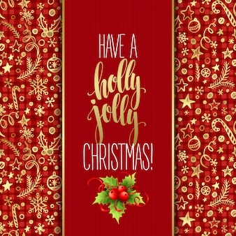 Heb een hulst vrolijke kerst, wenskaart