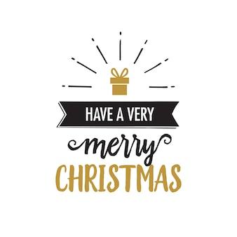 Heb heel vrolijke kerstbelettering
