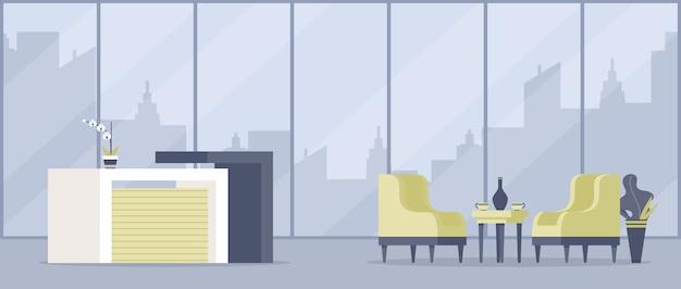 Hedendaagse appartement inrichting platte vectorillustratie