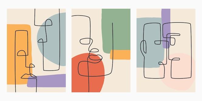 Hedendaagse hand getrokken. doorlopende lijn, minimalistisch elegant concept.