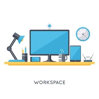 Hedendaagse organisatie van de werkruimte