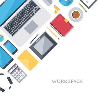 Hedendaagse werkruimtevoorwerpen