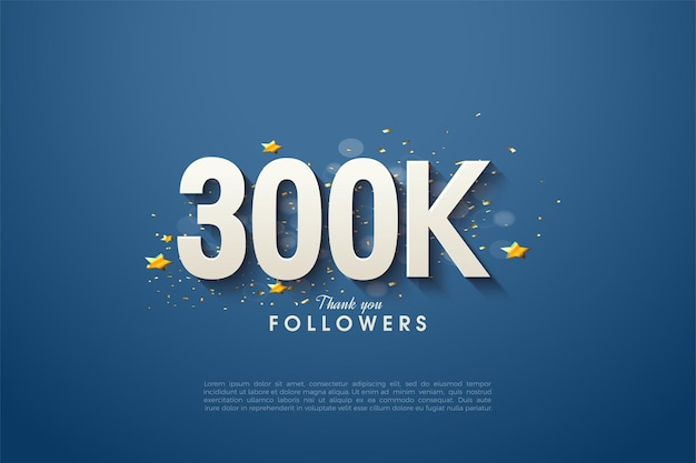 Heel erg bedankt 300.000 volgers met luxe figuurillustraties.