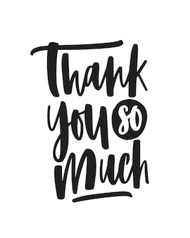 Heel erg bedankt handgeschreven vectorbelettering. emotionele dankbaarheid expressie zin geïsoleerd op een witte achtergrond. briefkaart, wenskaart decoratieve kalligrafie. dankbaarheid, dankbare woorden.