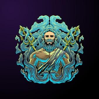 Heer van de zee illustratie