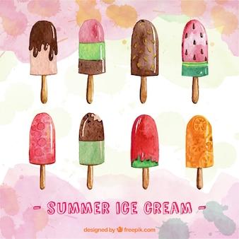 Heerlijk aquarel ijsjes