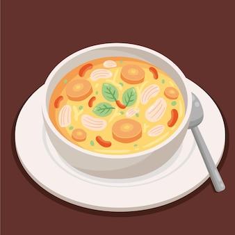 Heerlijk comfort eten geïllustreerd