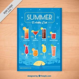 Heerlijk drankje lijst flyer