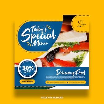 Heerlijk eten restaurant sociaal menu media promotie sjabloon