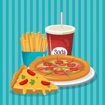 Heerlijk fastfoodmenu