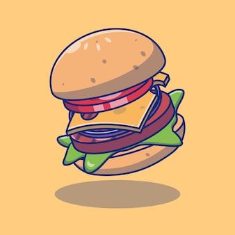 Heerlijk hamburger fastfood illustratieontwerp