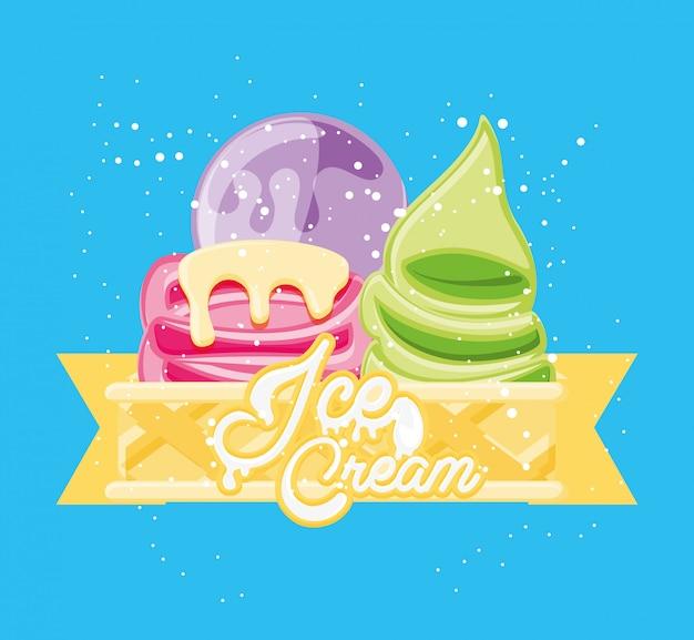 Heerlijk ijs in kopjes