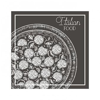 Heerlijk italiaans pizza geïsoleerd pictogram