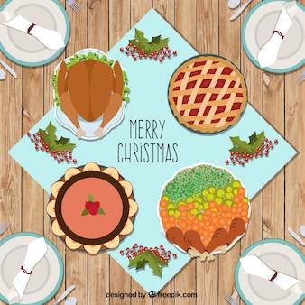 Heerlijk kerstmis voedsel kaart