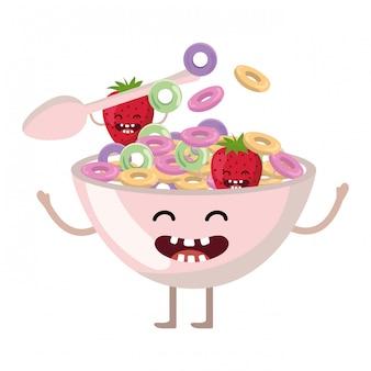 Heerlijk lekker eten cartoon