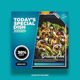 Heerlijk restaurant vandaag speciaal gerecht social media abstract postsjabloon
