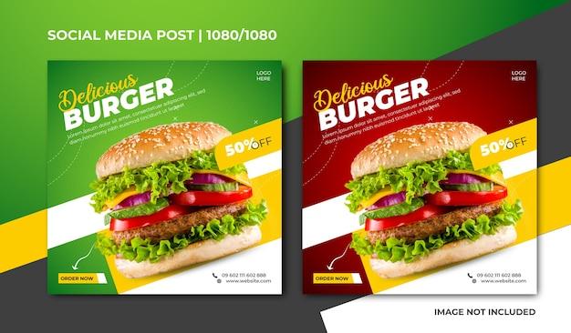 Heerlijk social media-ontwerp voor hamburgers