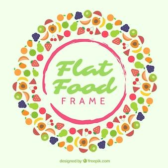 Heerlijk voedselkader met vlak ontwerp