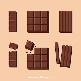 Heerlijke chocoladerepen collectie