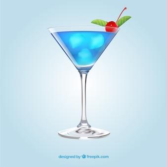 Heerlijke cocktail in realistische stijl