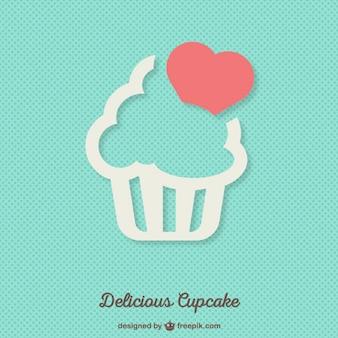 Heerlijke cupcake achtergrond