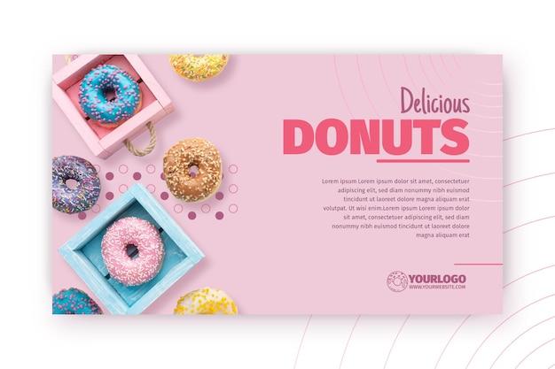 Heerlijke donuts sjabloon voor spandoek