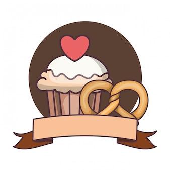 Heerlijke en verse cake met kers