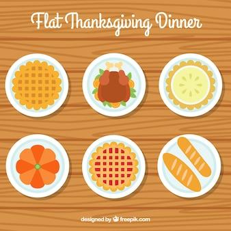 Heerlijke gerechten voor het thanksgiving-diner