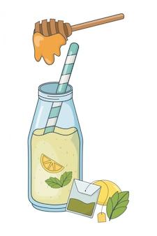 Heerlijke gezonde maaltijd cartoon