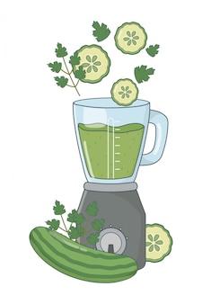 Heerlijke gezonde smoothie cartoon