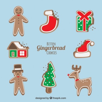 Heerlijke kerst peperkoek cookies met een hapje