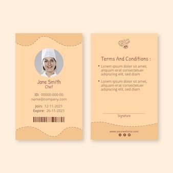 Heerlijke koekjes identiteitskaart