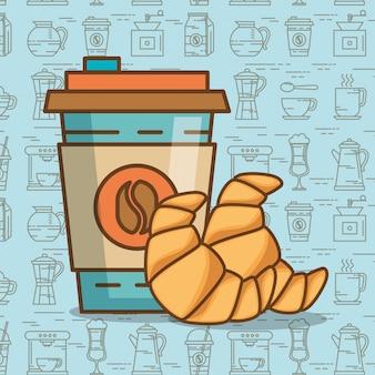 Heerlijke koffie tijd elementen