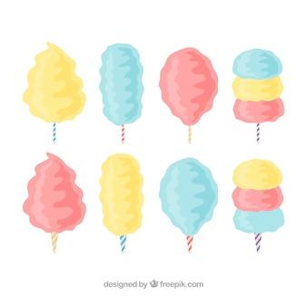 Heerlijke pastelkleurige snoepkatons