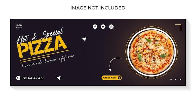 Heerlijke pizza sociale media voorbladsjabloon
