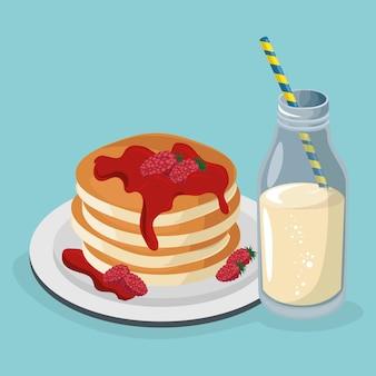 Heerlijke pudding met melkzoet