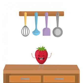 Heerlijke smakelijke fruit cartoon