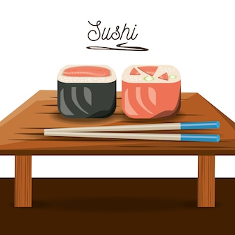 Heerlijke sushi japanse schotel menu restaurant