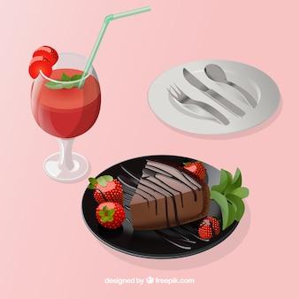Heerlijke voedselsamenstelling met elegante stijl